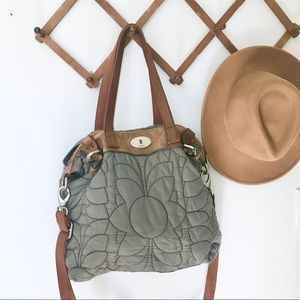Fossil Quilted Nylon Bag